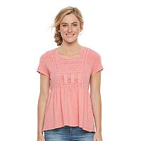 Women's SONOMA Goods for Life™ Embroidered Peplum Tee