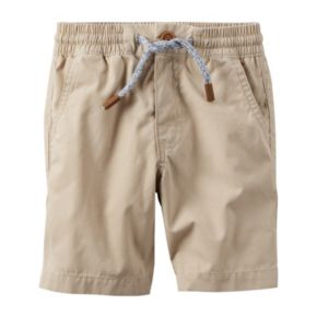 Toddler Boy Carter's Khaki Pull-On Shorts