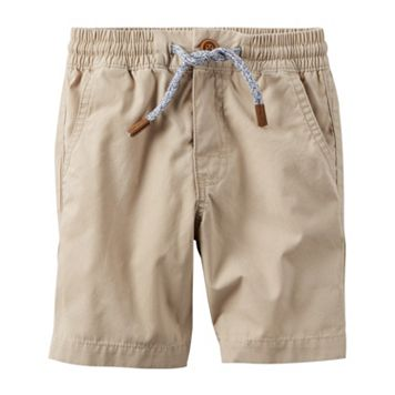 Toddler Boy Carter's Khaki Pull-On Shorts