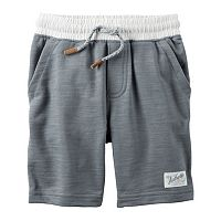 Toddler Boy Carter's Knit Gray Pull-On Shorts