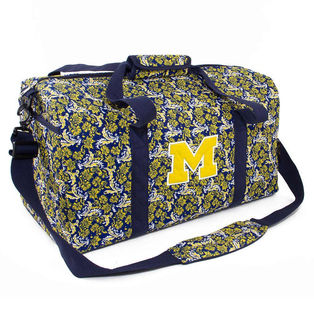 Michigan Wolverines Bloom Large Duffle Bag