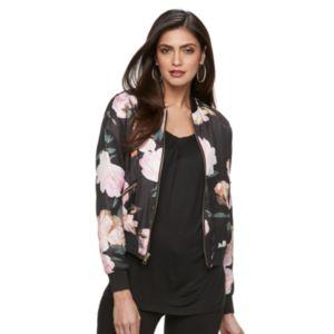 Women's Jennifer Lopez Floral Bomber Jacket