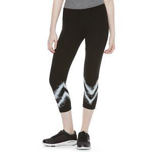 Juniors' SO® Tie-Dye Yoga Capri Leggings