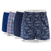 Men's IZOD Ship 4-Pack Woven Boxers