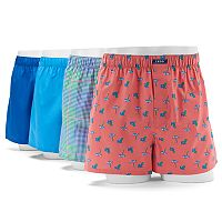 Men's IZOD Beach 4-Pack Woven Boxers