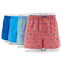 Men's IZOD Beach 4-Pack Woven Boxers