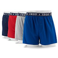 Men's IZOD Solid Knit 4-Pack Boxer