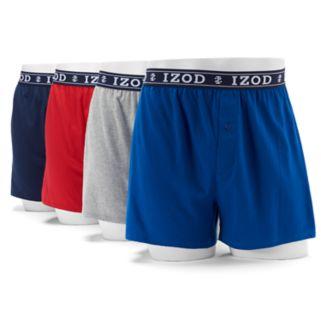 Men's IZOD Solid Knit 4-Pack Boxer
