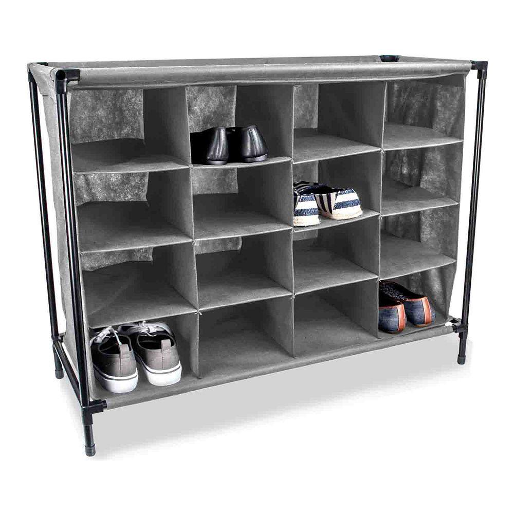 Home Basics 16-pair Shoe Rack