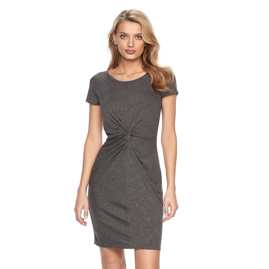 Women's Juicy Couture Glitter Twist T-Shirt Dress