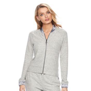 Women's Juicy Couture Satin Trim Bomber Jacket