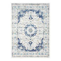 nuLOOM Bodrum Verona Framed Floral Rug
