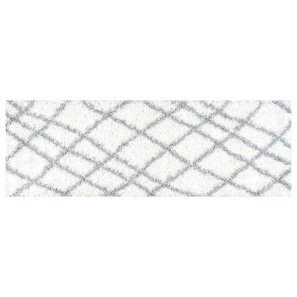 nuLOOM Alvera Easy Shag Lattice Rug