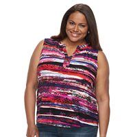Plus Size Dana Buchman High-Low Henley