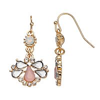 LC Lauren Conrad Teardrop Cluster Drop Earrings