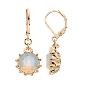 LC Lauren Conrad Opaque Circle Drop Earrings