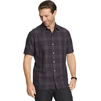 Men's Van Heusen Classic-Fit Plaid Textured Button-Down Shirt