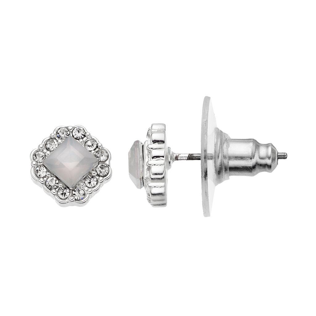 LC Lauren Conrad Square Halo Stud Earrings
