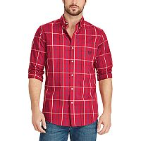 Big & Tall Chaps Classic-Fit Stretch Poplin Button-Down Shirt