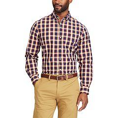 Big & Tall Chaps Classic-Fit Stretch Poplin Button-Down Shirt