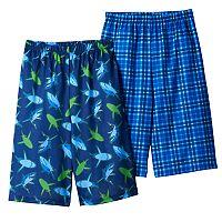 Boys 4-16 Shark Summer 2-Pack Pajama Shorts