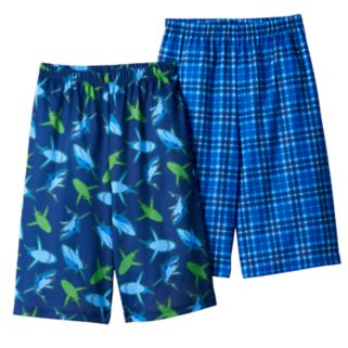Boys 4-16 Shark Summer 2-Pack Pajama Shorts