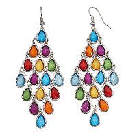 Mudd® Multi Color Teardrop Kite Earrings