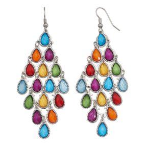 Mudd® Multi Color Teardrop Kite Earrings