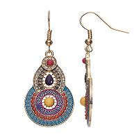Mudd® Textured Medallion Drop Earrings