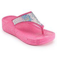 Girls 4-16 Sequin Wedge Jelly Flip Flops