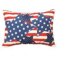 Stars and Stripes Oblong Throw Pillow