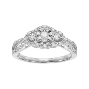 Sterling Silver 1/4 Carat T.W. Diamond Promise Ring