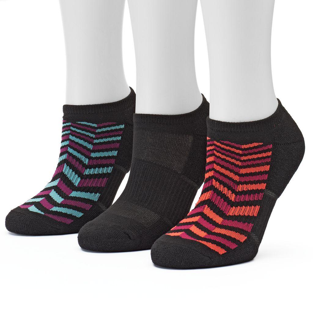 Women's Tek Gear® 3-pk. Performance Chevron Marled Quarter Socks