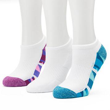 Women's Tek Gear® 3-pk. Performance Geometric Marled Quarter Socks