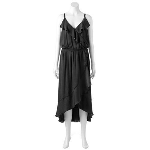 Plus Size Jennifer Lopez Ruffle Faux-Wrap Dress