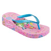 Girls 4-16 Shopkins Lippy Lips, Strawberry Kiss & Apple Blossom Wedge Flip Flops
