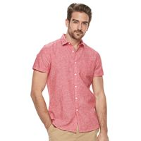Men's Marc Anthony Slim-Fit Linen-Blend Button-Down Shirt