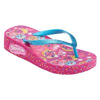 Girls 4-16 Shopkins D'lish Donut, Dolly Donut & Polly Donut Wedge Flip Flops