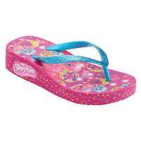 Girls 4-16 Shopkins D'lish Donut, Dolly Donut & Polly Donut Wedge Flip Flops