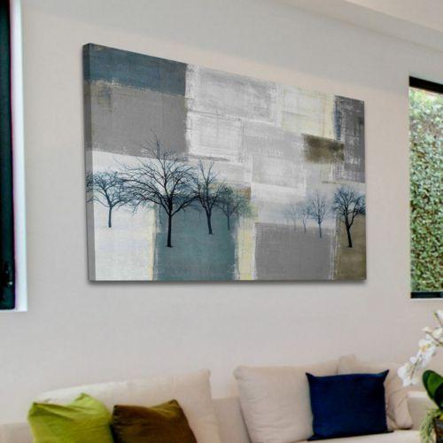 Parvez Taj Blue Trees Canvas Wall Art