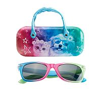 Girls 5-16 Rainbow Sunglasses & Hard Case Set