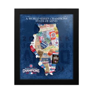 "Chicago Cubs 2016 World Series Champions State of Mind 18"" x 15"" Framed Print"