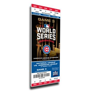 Chicago Cubs 2016 World Series Game 3 Mega Ticket