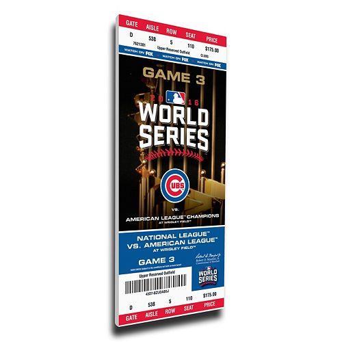 Chicago Cubs 2016 World Series Game 3 Mega Ticket