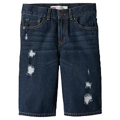 Boys 8-20 Levi's® 505™ Distressed 5-Pocket Denim Shorts