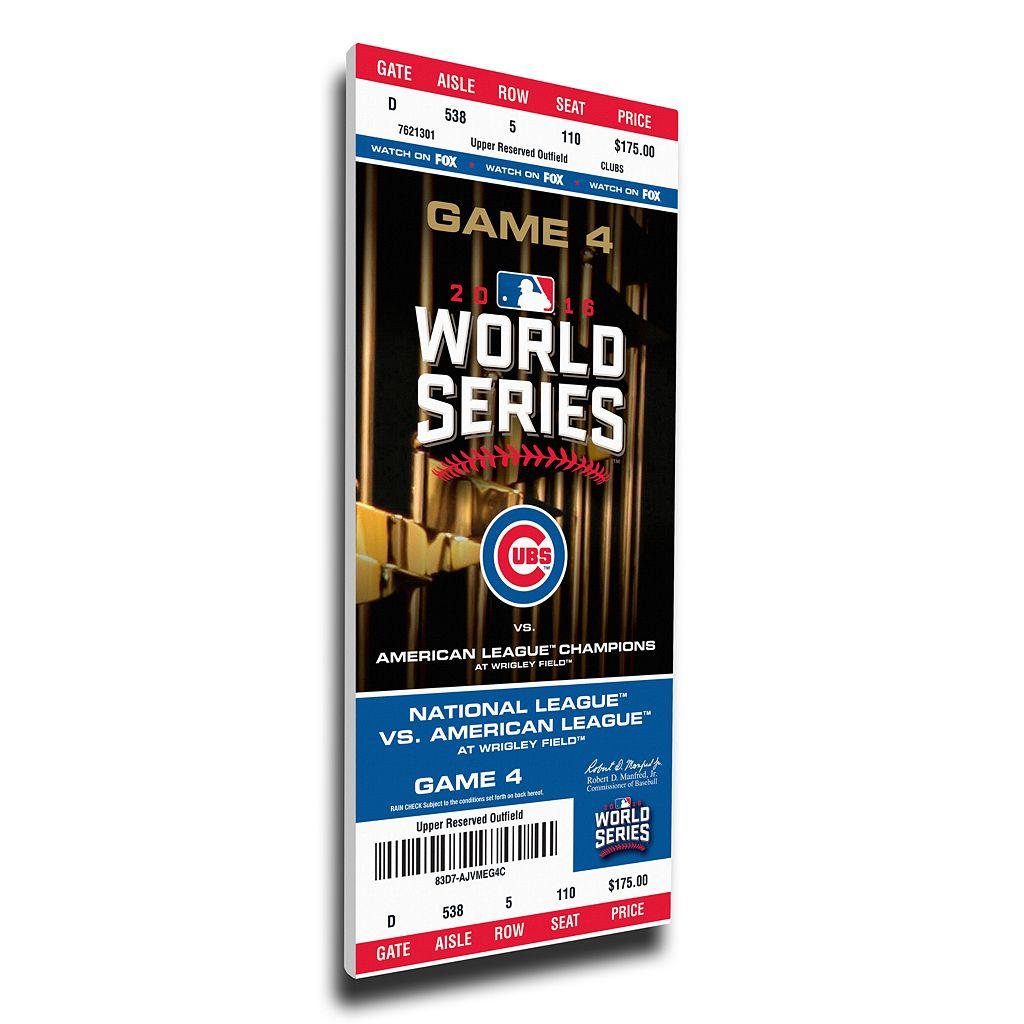 Chicago Cubs 2016 World Series Game 4 Mega Ticket