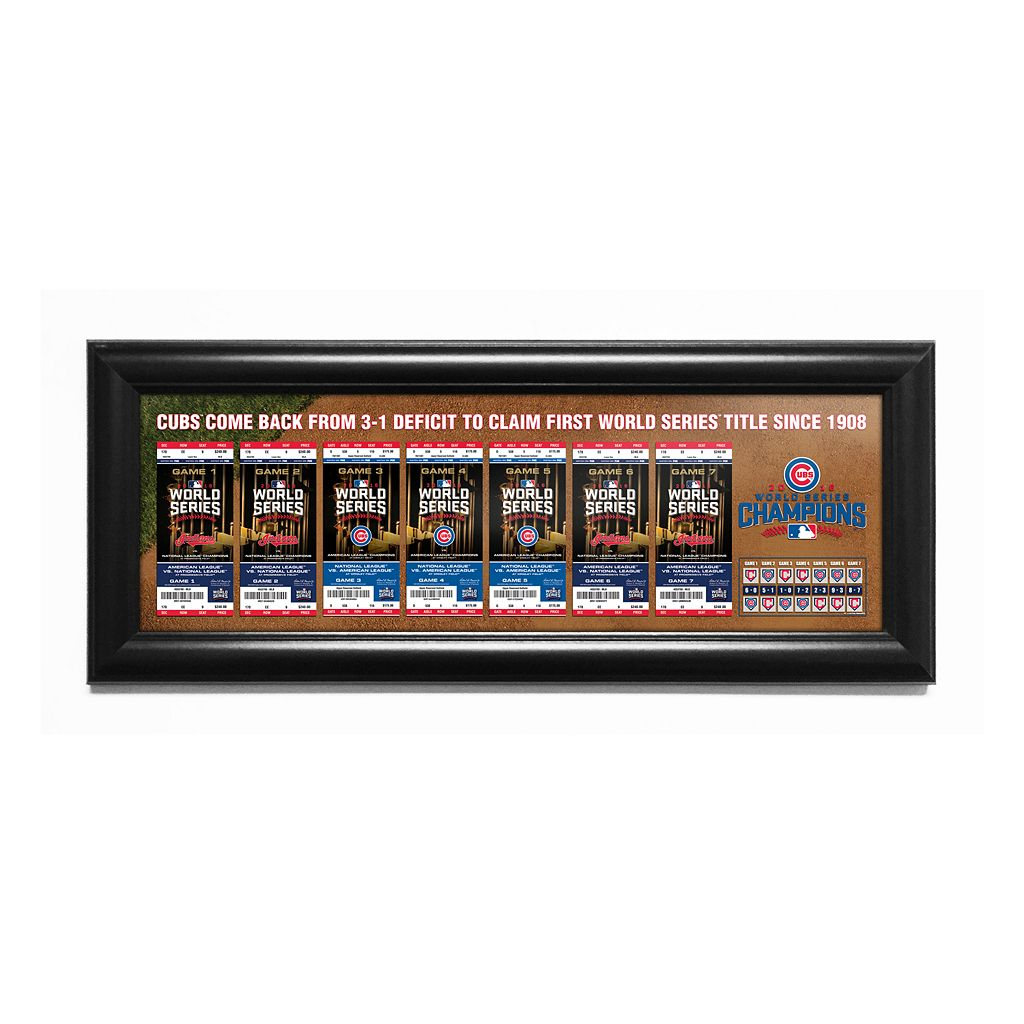 Chicago Cubs 2016 World Series Tickets To History Canvas Print