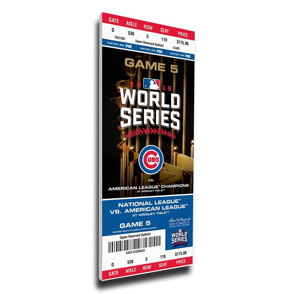 Chicago Cubs 2016 World Series Game 5 Mega Ticket