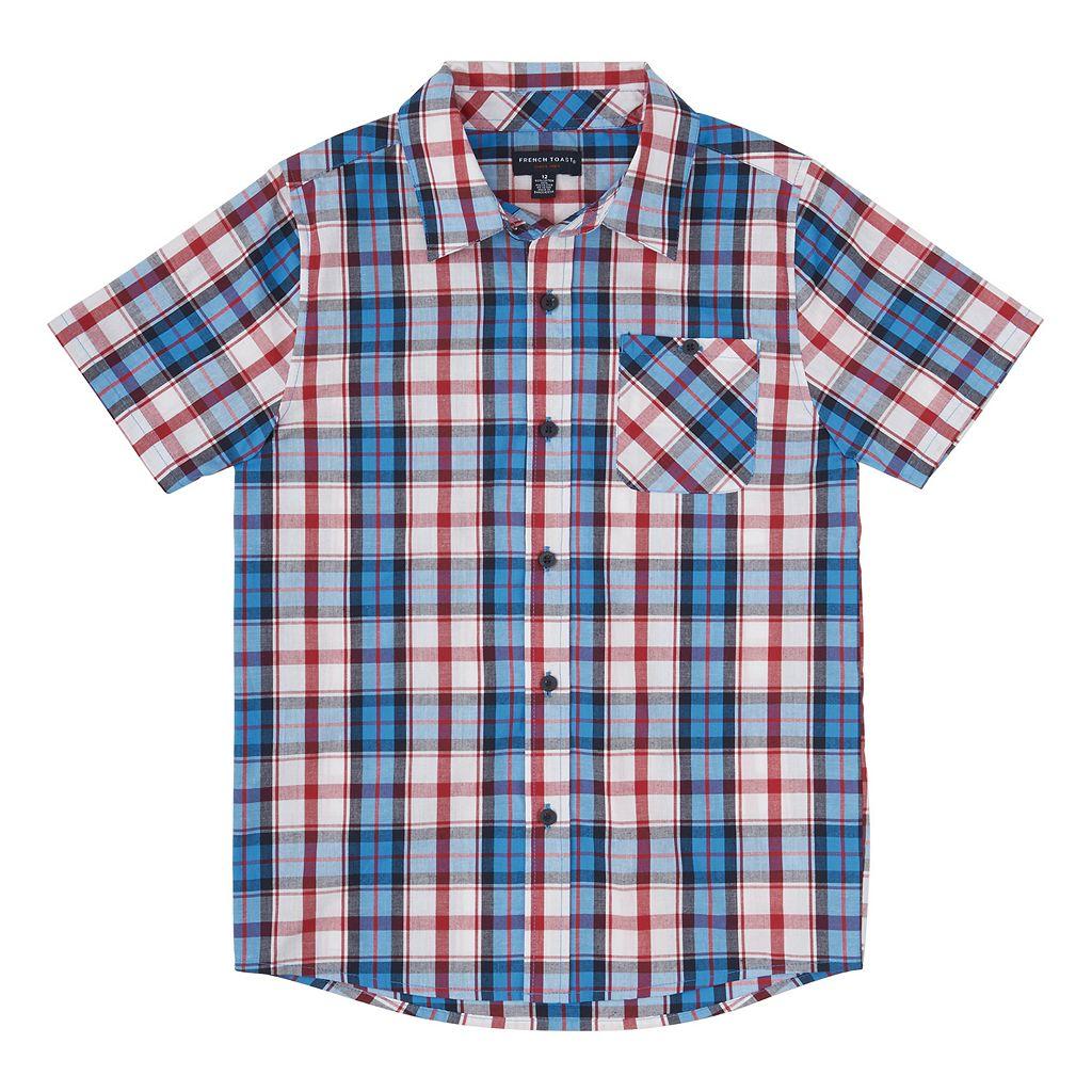 Boys 8-20 French Toast Plaid Button-Down Shirt