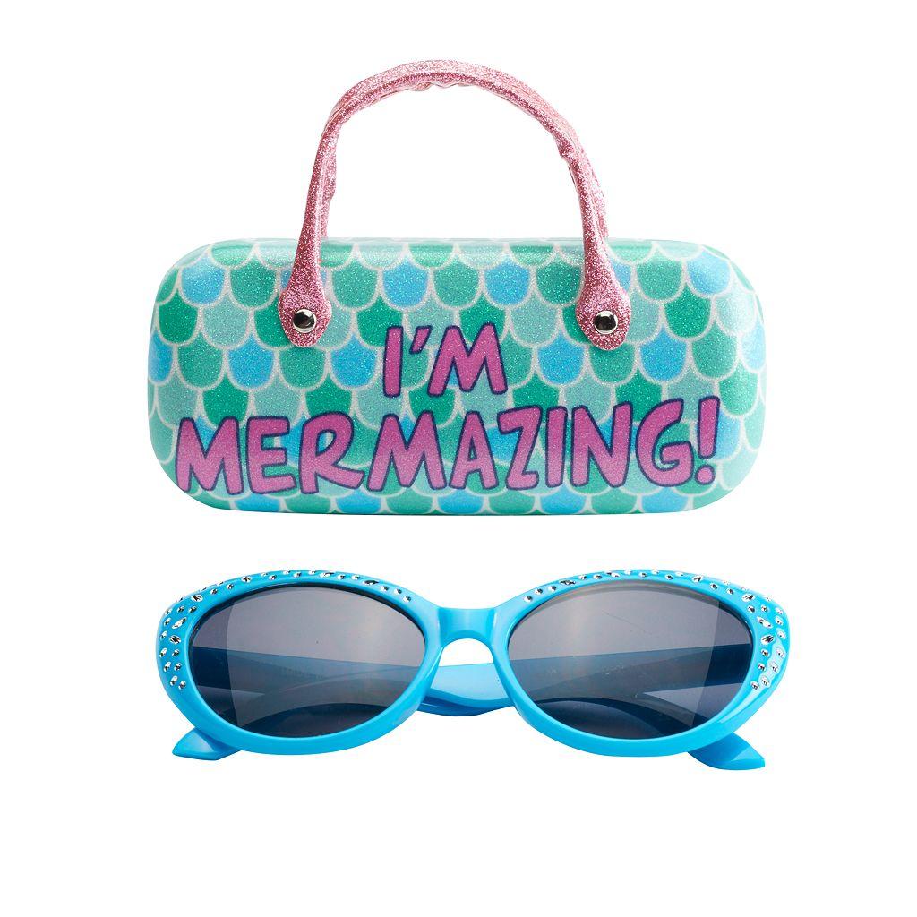 Girls 5-16 Mermaid Sunglasses & Hard Case Set